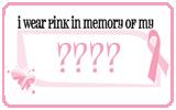 I wear pink in memory
